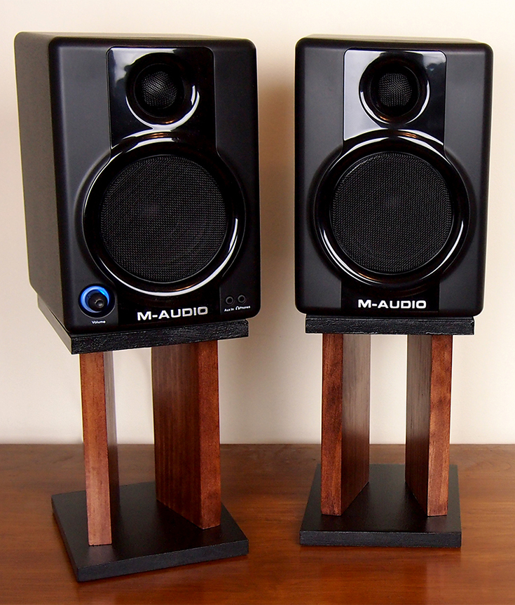 Diy Desktop Speaker Stands Makify Com
