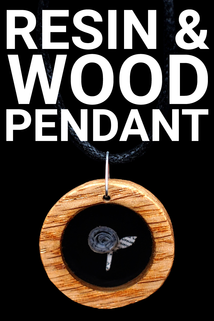 Resin & Wood Pendant